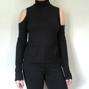 Zara Cold Shoulder Turtleneck